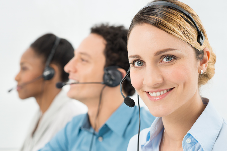 Happy Woman With Headsets