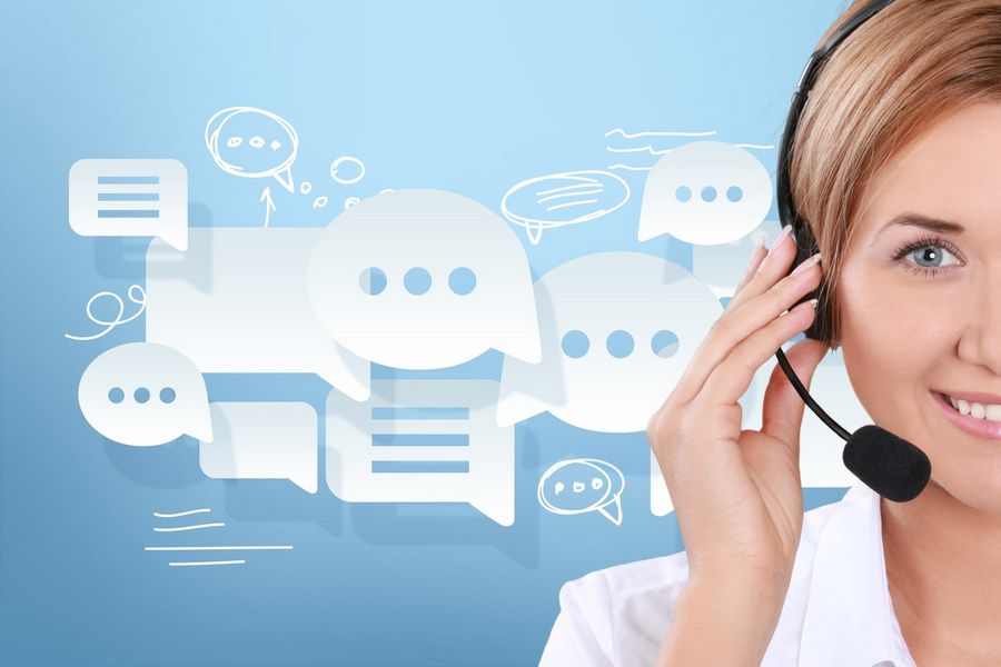Call Center. Perfect customer support. Switchboard Operator